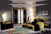 Set Kamar Tidur Mewah Klasik Modern Ukiran Emas Terbaru Sibilla PMJ-0013