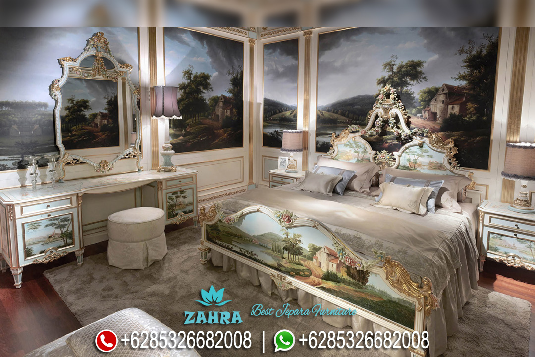 Kamar Tidur Mewah Ukir Duco Klasik Ninfea Terbaru PMJ-0037