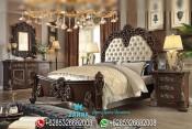 Set Tempat Tidur Ukir Jati Mewah Klasik Terbaru Victorian PMJ-0060