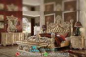 Set Tempat Tidur Ukir Mewah Duco Klasik Terbaru PMJ-0051