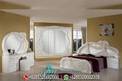 Set Tempat Tidur Mewah Klasik Modern Model Eropa Terbaru PMJ-0078