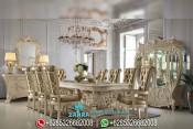 Meja Makan Jepara Mewah Model Eropa Klasik Rococo PMJ-0067