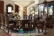 Set Meja Makan Ukir Mewah Klasik Murah Terbaru Minerva PMJ-0053