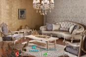 Set Sofa Tamu Klasik Modern Duco Mewah Terbaru Rosella PMJ-0029
