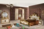 Set Tempat Tidur Mewah Klasik Modern Terbaru PMJ-0008