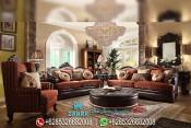 Set Kursi Sofa Tamu Mewah Ukir Klasik Modern Terbaru PMJ-0099
