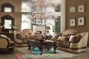 Set Sofa Tamu Eropa Mewah Ukir Klasik Terbaru PMJ-0095