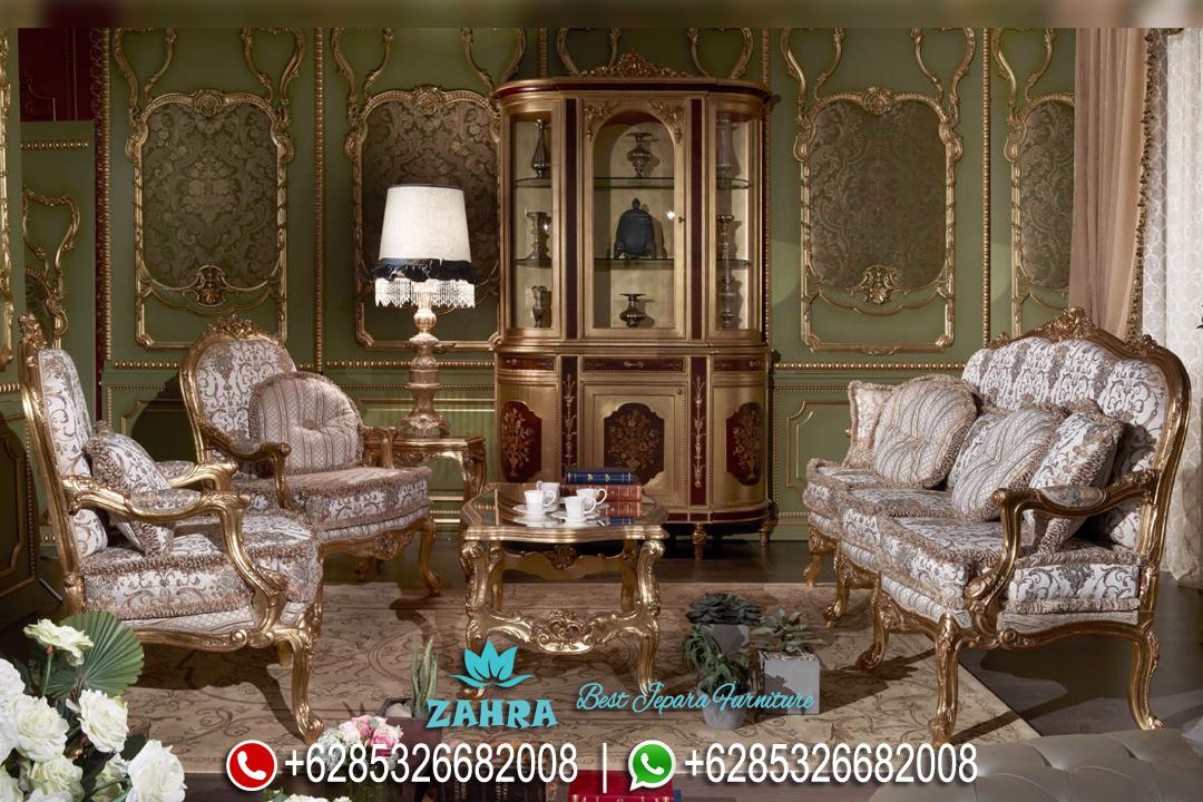 Set Sofa Tamu Mewah Duco Emas Ukir Klasik Terbaru Mellisa PMJ-0082