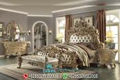 Set Tempat Tidur Mewah Ukir Jepara Klasik Terbaru PMJ-0072