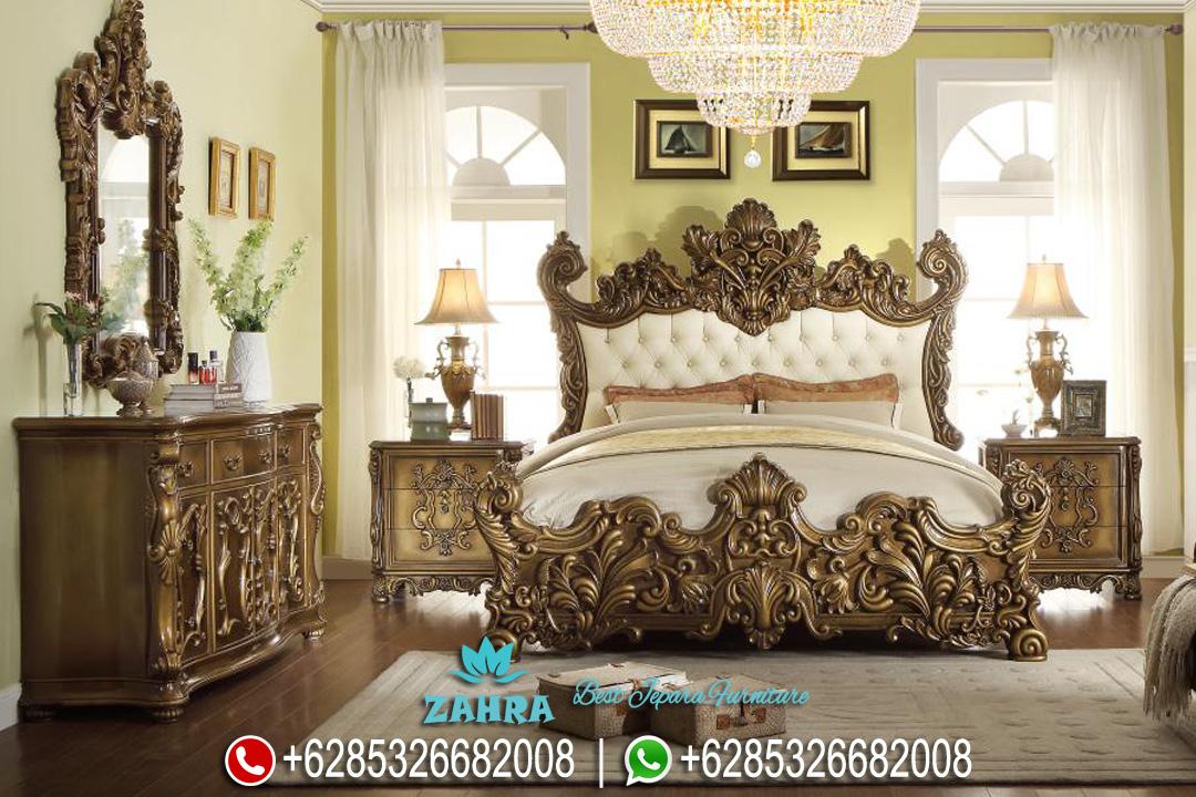 Set Tempat Tidur Ukir Jati Mewah Klasik Terbaru PMJ-0119