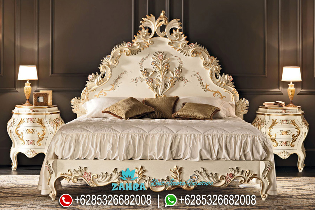Set Tempat Tidur Ukir Mewah Mebel Jepara Klasik Terbaru PMJ-0142