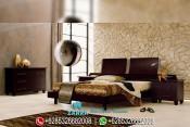 Set Tempat Tidur Minimalis Jati Natural Mewah Terbaru PMJ-0096